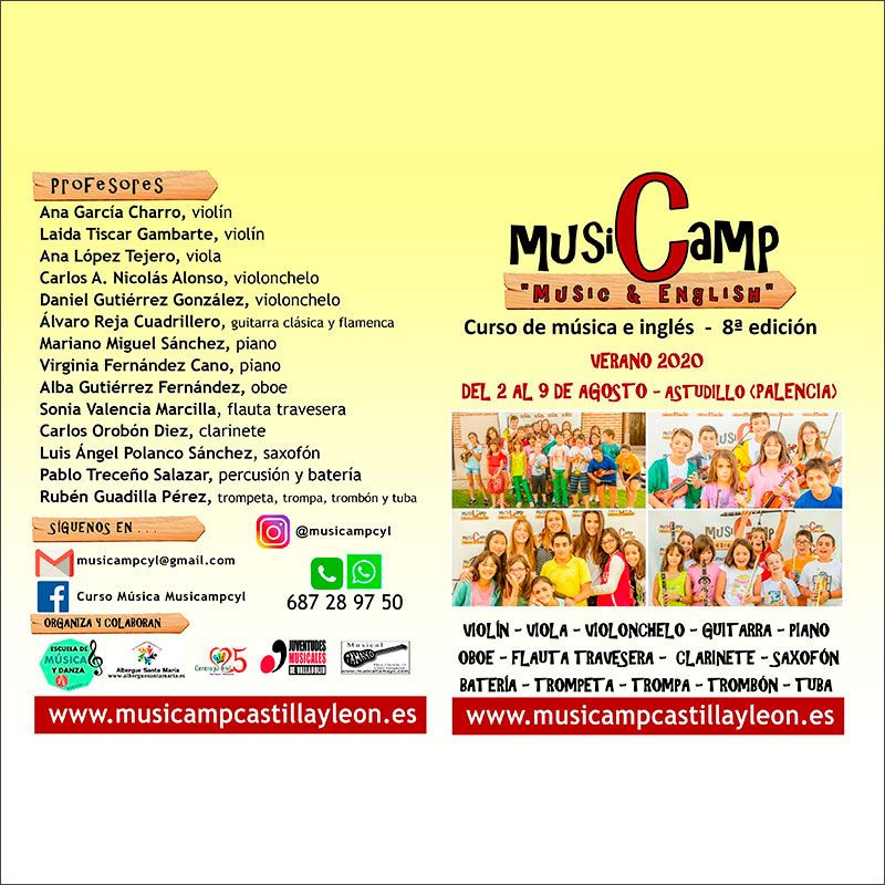 Díptico Music Camp 2020